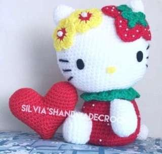 💕 Be Mine- Valentine's Day Special Crochet Hello Kitty Strawberry?