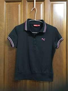 PUMA 彪馬 黑色 素面 短袖上衣 polo衫 粉色 白色 台灣製 彈性布料