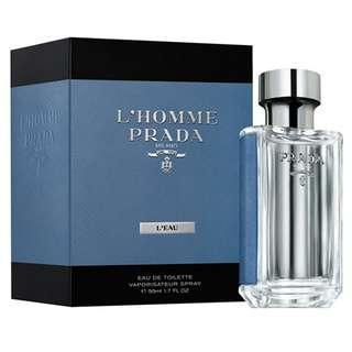 Prada L'homme Milano L'eau EDT for Men (50ml/100ml/Tester/9ml)
