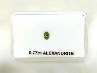 Natural Alexandrite Gemstone (0.77CT) GIA Cert