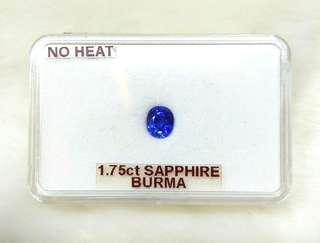 Blue Sapphire Gemstone (No Heat) (Myanmar - 1.75CT)