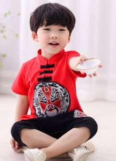 Size 120 CNY Traditional Costume (Mask) for boy
