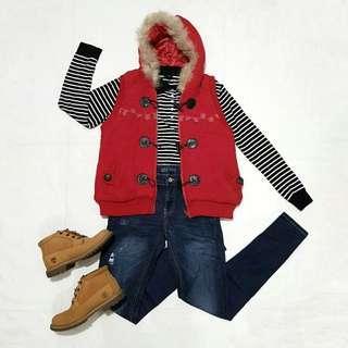 ☇LP☇Red Knit Winter Vest