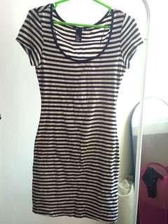 H&M Stripe Bodycon Dress