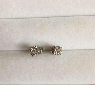9K6圍1鑽石耳環