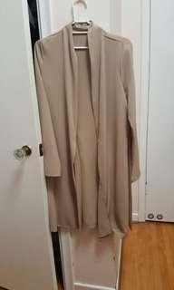 M Boutique size small beige cardigan dress