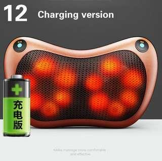Car home cervical massager neck waist back body electric multifunction low voltage heating massage pillow-intl