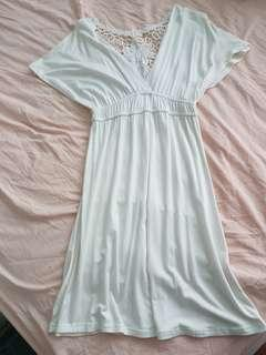 White Dress Low Front with Detail Back