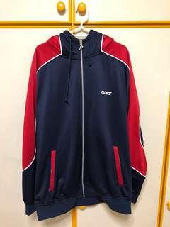 Palace Pipeline Hooded Track Jacket Navy/Red XL