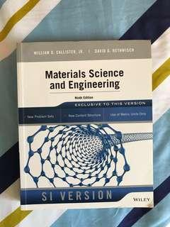 Material Science and Engineering - Wiley William D. Callister Ninth Edition