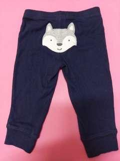 🚚 銅板價 Carter's 深藍色長褲,6M