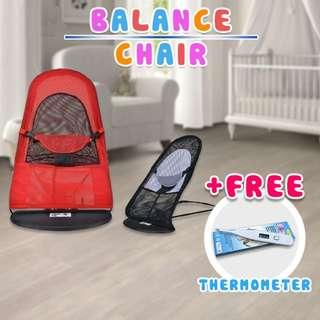 Foldable Baby Balance Chair Rocker Bouncer Chair + Free Thermometer NKA28