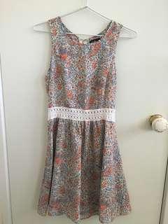 Dotti floral lace dress