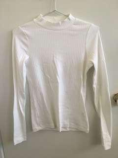 Uniqlo white long sleeve top