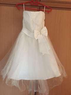 White Bridesmaid Short Dress