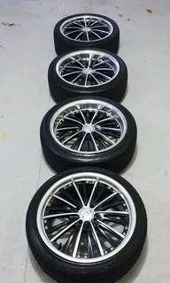 Pro Race Rims 17 and Free Tires