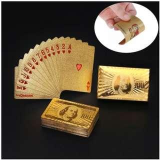 gold foil poker cards CNY