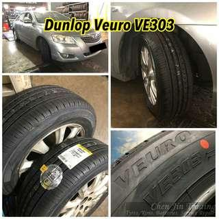 Dunlo0 Veuro VE303 tyres, made in Japan, promotion price, wholesale, while stock last