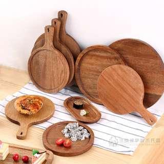 Round Wooden Platter