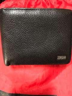 🚚 男仕短夾荔枝紋設計進口專櫃100%進口牛皮革材質固定型證件夾標準尺寸,完整、皮革很好