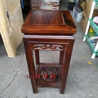 小o結緣館仿古傢俱...四方花台 小椅子 擺飾桌 藝品架(雞翅木)25x25x60