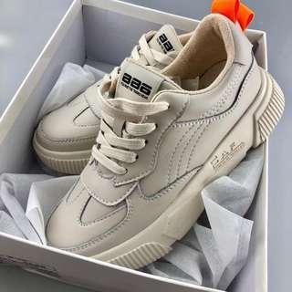 Instock Ladies Sneaker Beige Size 36 Super Comfy Latest Most Trendy Design!!