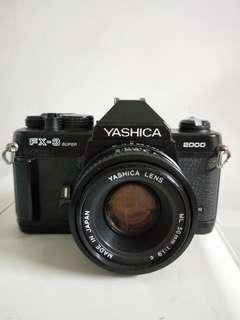 Yashica FX 3 Super 2000 with lens