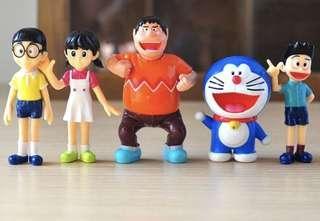 ☘️Terrarium Figurines, Accessories, Miniature - Scrapbooking, Gardening, Home Decor, Mini Landscape, Photo Frame, Plants, Card Making, Beach, Seaside, Ocean - Set of 5 Doraemon Shizuka Minamoto Takeshi Goda Dorami