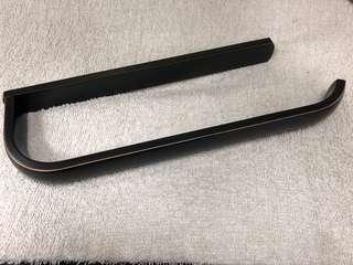 Hiendure Bathroom Black 12 inch Towel ring