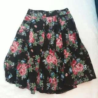 Repriced 120 Floral midi skirt