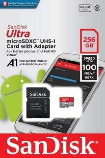 Sandisk Ultra 256 GB microSD