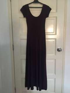 Dark Purple Cotton Dress