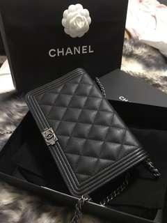 CHANEL BOY WOC Wallet on Chain rare