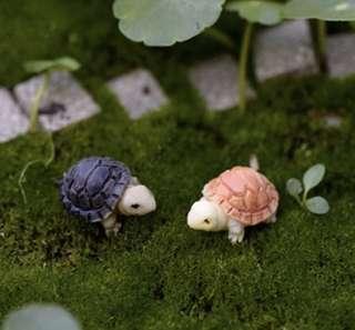 ☘️Terrarium Figurines, Accessories, Miniature - Scrapbooking, Gardening, Home Decor, Mini Landscape, Photo Frame, Plants, Card Making, Beach, Seaside, Ocean - Set of 2 Tortoise / Turtle