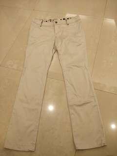 🚚 Ef-de日系 銀色硬挺顯瘦質感長褲 #衣櫃大掃除