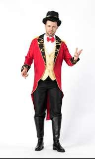 Male cosplay circus magician trainer costume