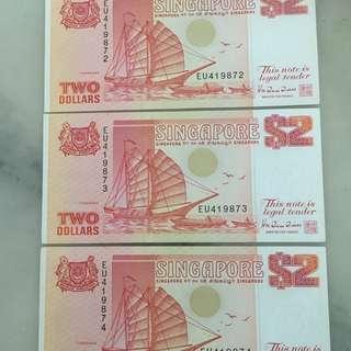 S'pore Ship $2 X 3pc Run: EU-419872 ( Aunc ) Pink