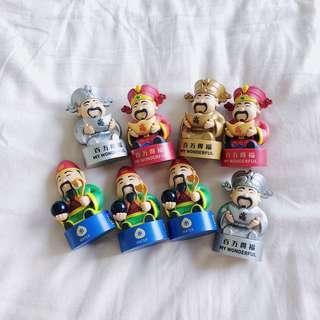 MBS Cai Shen Ye Fu Lu Shou Figurines