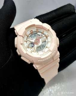 🚚 * FREE DELIVERY * Brand New 100% Authentic Casio BabyG Pastel Pink & Gold Index Lady's Casual Watch BA-110RG-4ADR BA110 BA110RG