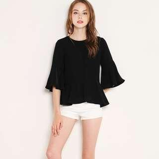 <Shop Sassy Dream> Hensely Top in Black XS
