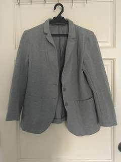 Grey Cotton Blazer