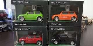 Starbucks miniature collectible cars