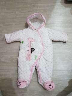 🚚 Carter's baby鋪棉包巾 連身衣-3M