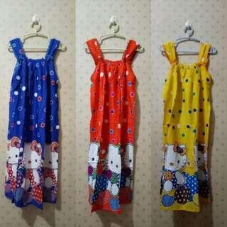 Baju Tidur Daster Batik Rayon (Hello Kitty/Marmut)