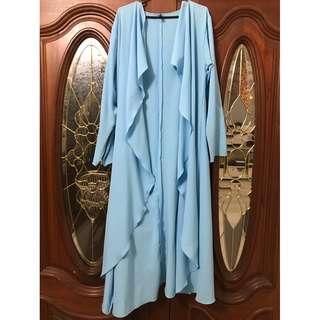 Pudore long cardigan baby blue