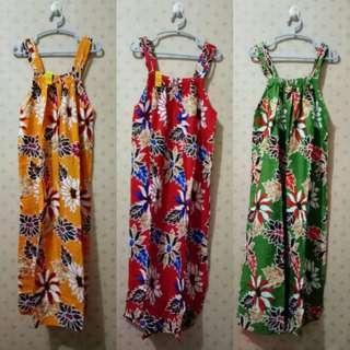 Baju Tidur Daster Batik Rayon Tanpa Lengan Variasi 3 Tali