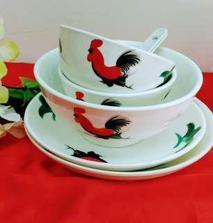 Rooster Dining Table Set