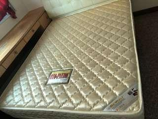 Queensize bedframe and mattress,$150, free delivery
