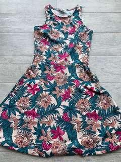 🚚 tropical skater dress