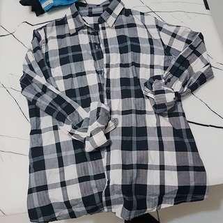 🚚 net格紋襯衫